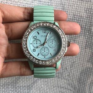 Mint Metal Stretch Watch